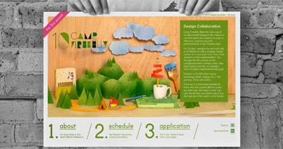 Camp Firebelly 2010 Website Screenshot
