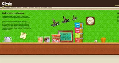 Clive's Pies Website Screenshot