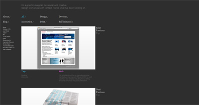 Colin Elliot Website Screenshot