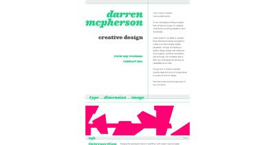 Darren McPherson Website Screenshot