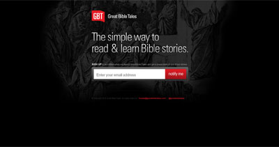 Great Bible Tales Website Screenshot