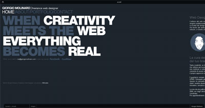 Giorgio Molinaro Website Screenshot