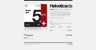 Helveticards Website Screenshot