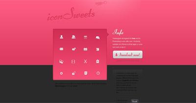 iconSweets Website Screenshot