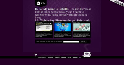 Isabella Website Screenshot