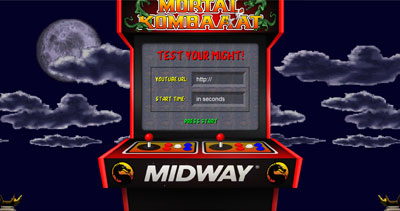Mortal Kombaaat Website Screenshot