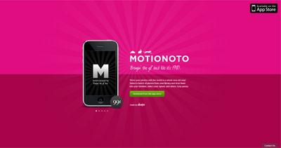 Motionoto Website Screenshot