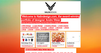 NalinDesign Website Screenshot