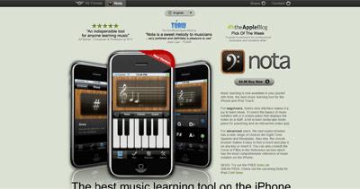 Nota Website Screenshot