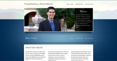 Tyler Kissell Website Screenshot