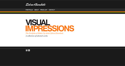 Zehra Khambati Website Screenshot