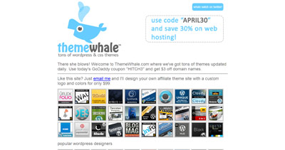 ThemeWhale Website Screenshot