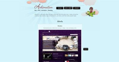 Anhimation land Website Screenshot