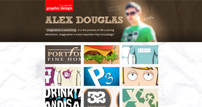Alex Douglas Website Screenshot
