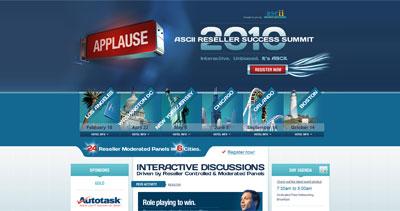 ASCII 2010 Reseller Success Summit Website Screenshot