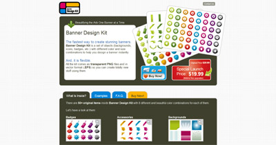 Banner Design Kit Website Screenshot