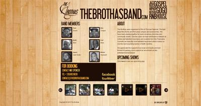 The Brothas Website Screenshot