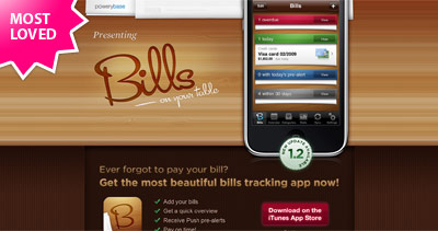 Bills On Your Table Website Screenshot