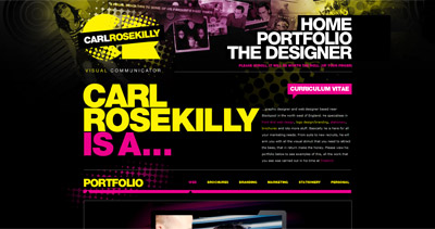 Carl Rosekilly Website Screenshot