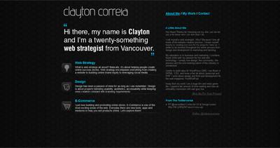 Clayton Correia Website Screenshot