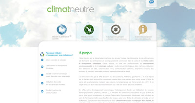 Climat Neutre Website Screenshot