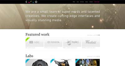 Curio Productions Website Screenshot
