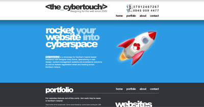 The Cybertouch Website Screenshot