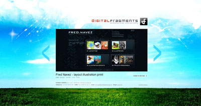Digital Fragments Website Screenshot