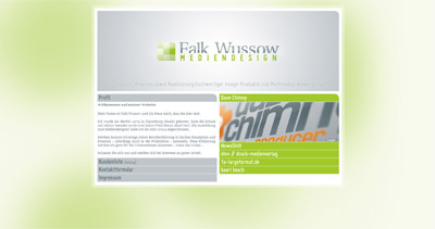 Falk Wussow Website Screenshot