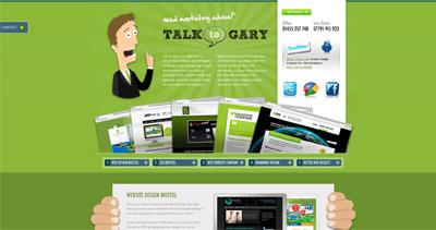 Talk to Gary Website Screenshot
