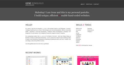 Gene Ronquillo Website Screenshot