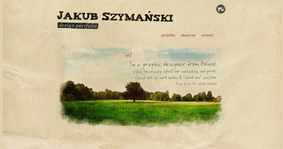 Jakub Szymański Website Screenshot