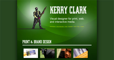 Kerry Clark Website Screenshot