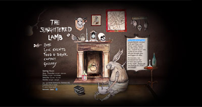 The Slaughtered Lamb Website Screenshot
