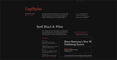 LegiStyles Website Screenshot