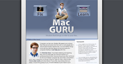 Mac Guru Website Screenshot