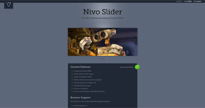 Nivo Slider Website Screenshot