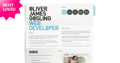Oliver James Gosling Website Screenshot