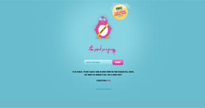 The Pink Penguin Website Screenshot