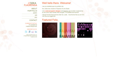 Siska Flaurensia Website Screenshot