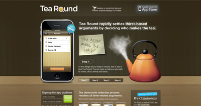Tea Round Website Screenshot