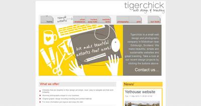 Tigerchick Website Screenshot