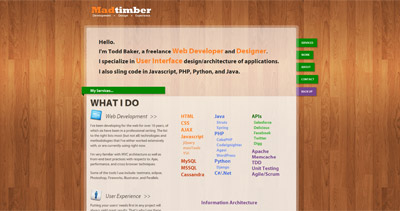 Madtimber Website Screenshot