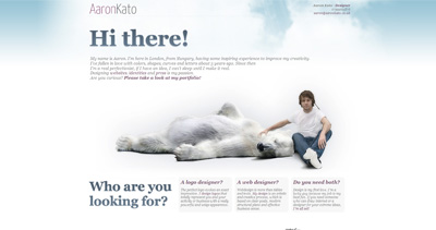 Aaron Kato Website Screenshot