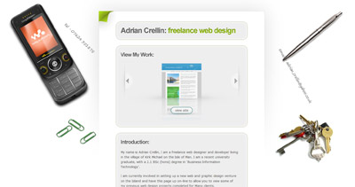Adrian Crellin Website Screenshot
