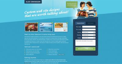 Alex Swanson Website Screenshot