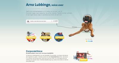 Arno Lubbinge Website Screenshot