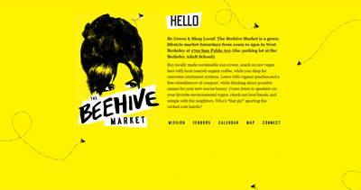 The Beehive Market Website Screenshot