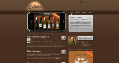 Cellar Website Screenshot