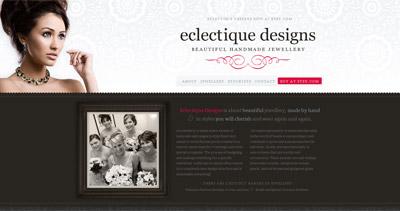Eclectique Designs Website Screenshot